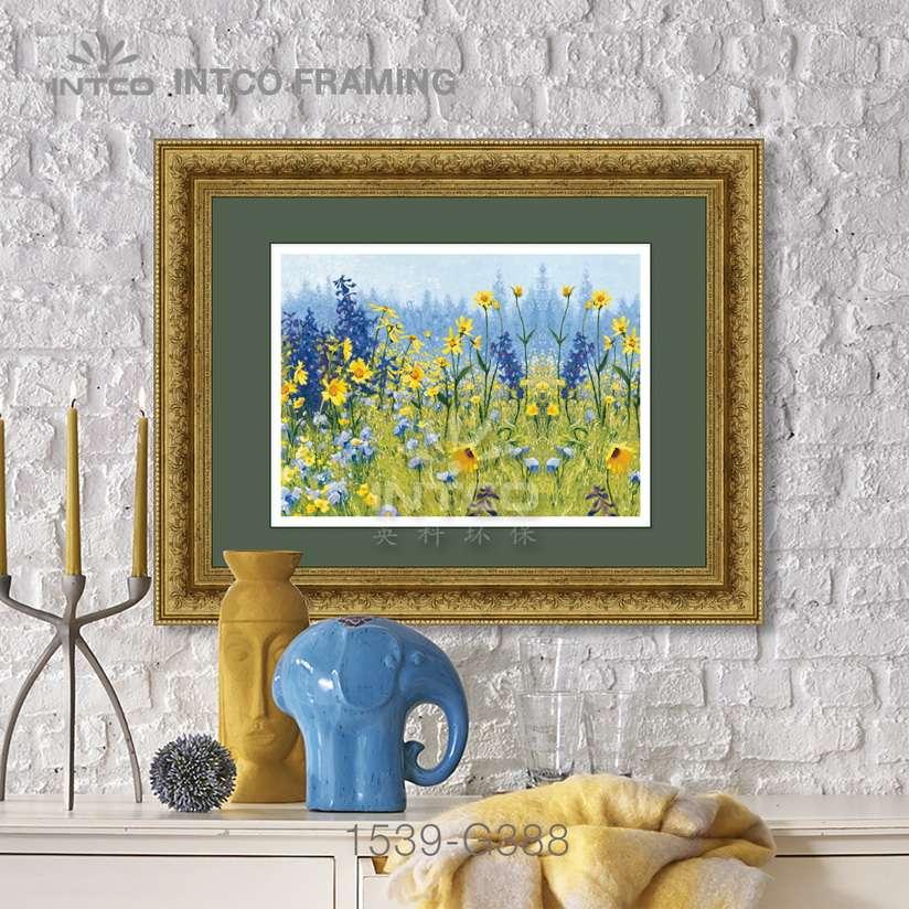 Framed wall art 60×80 cm-wall mouldings ideas-framed by INTCO 1539-G388 mouldings