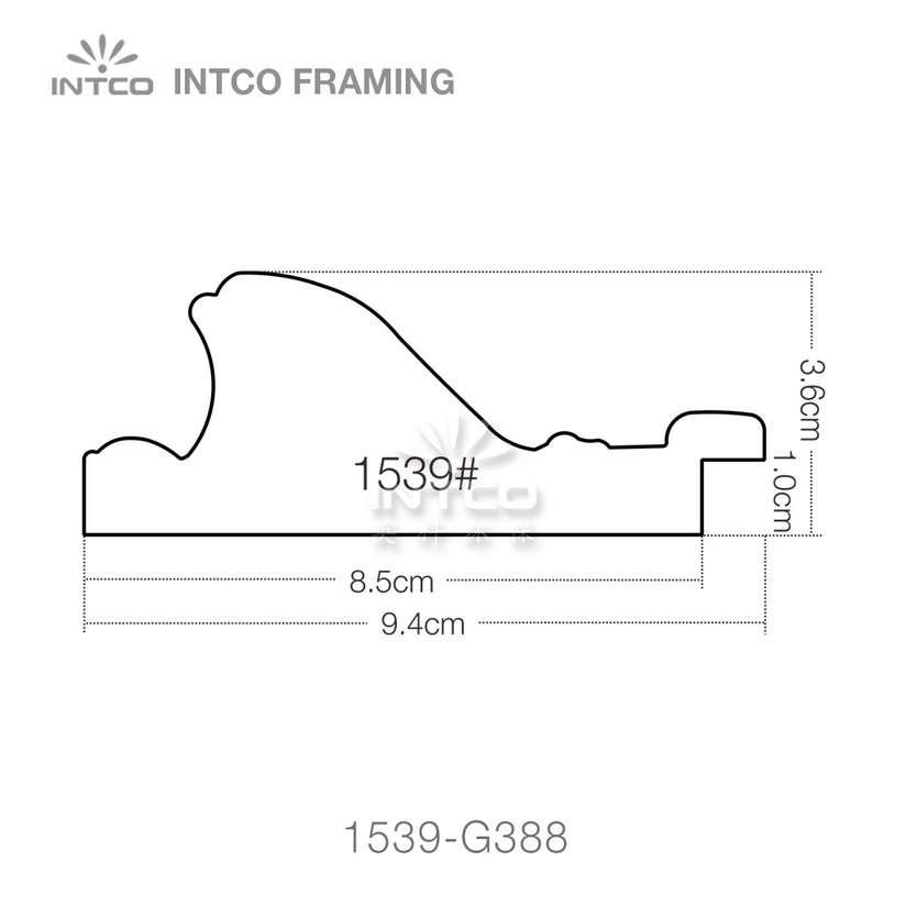 INTCO 1539 series PS mirror picture frame profile