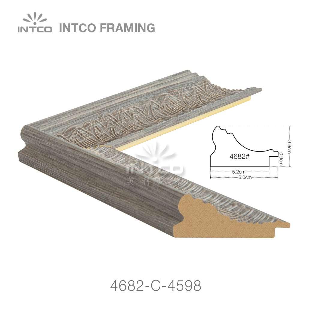 4682-C-4598 plastic picture frame moulding