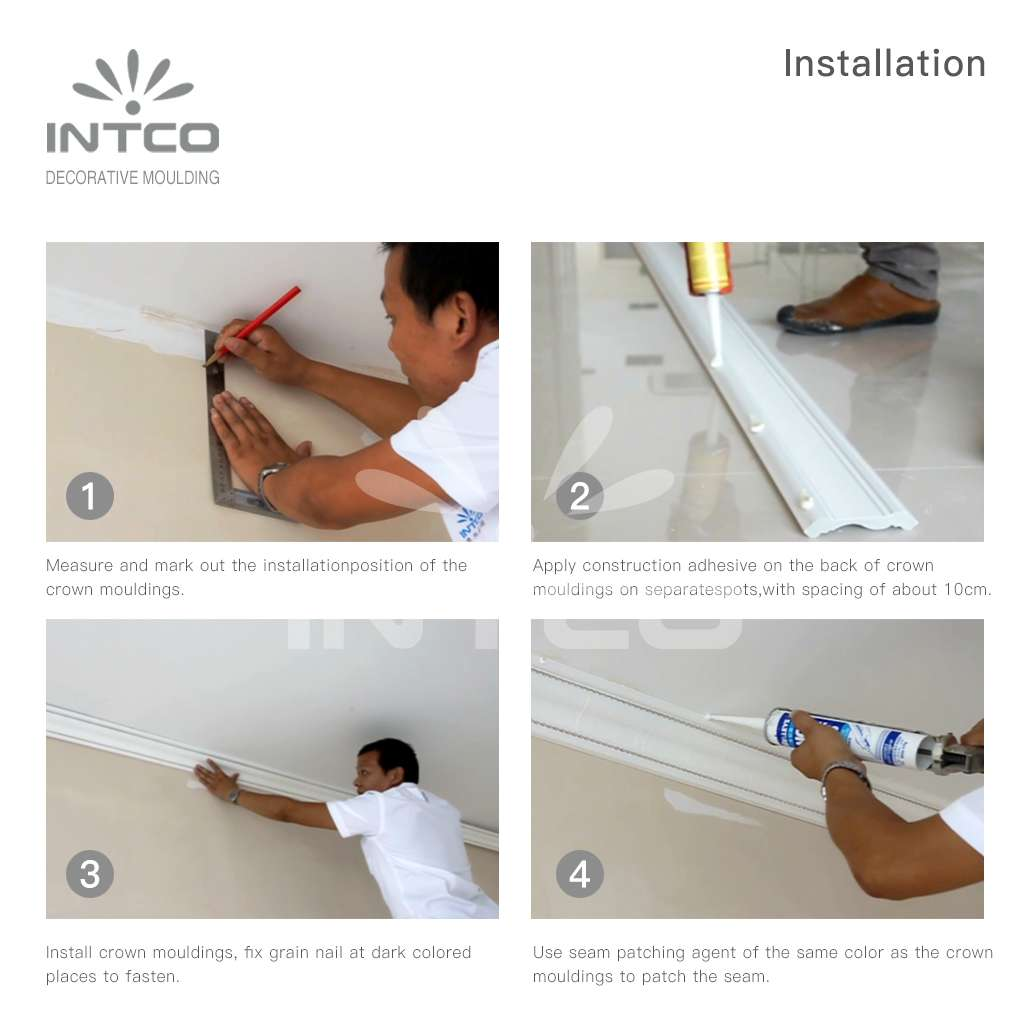how to install polystyrene crown moulding