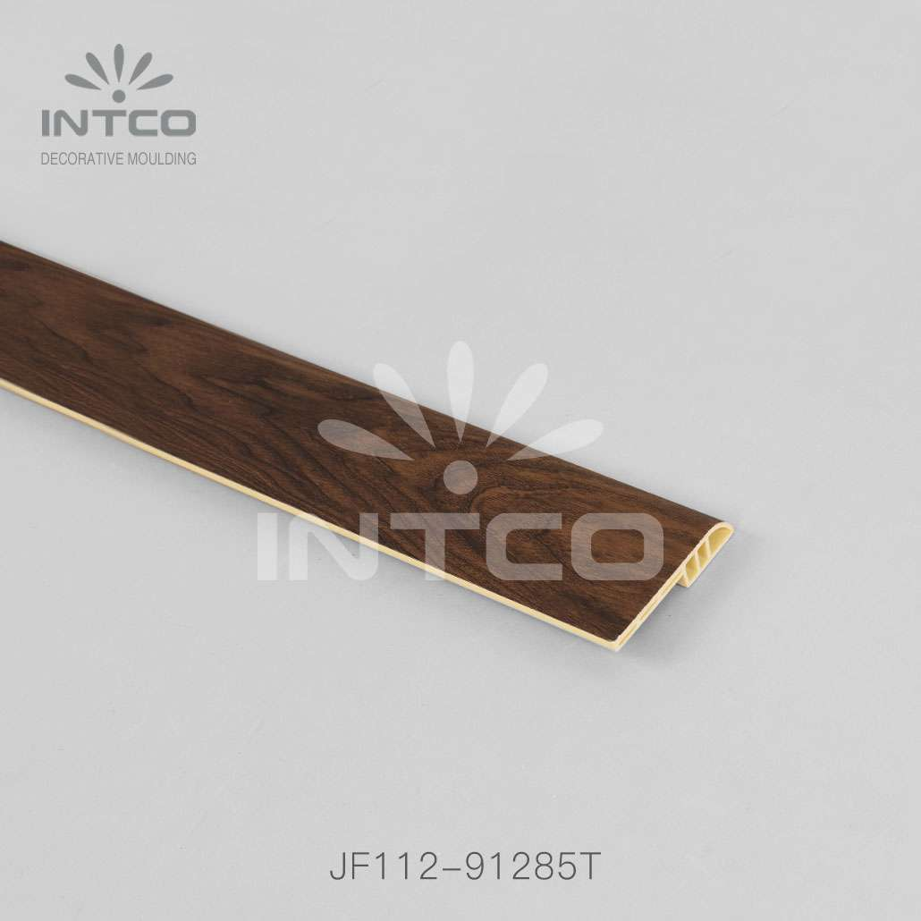 plastic skirting board dark wood finish