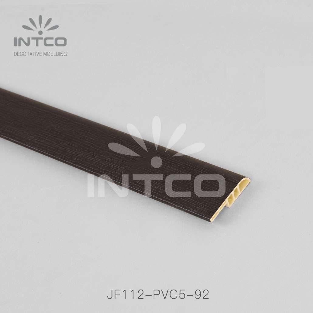 plastic skirting board black finish