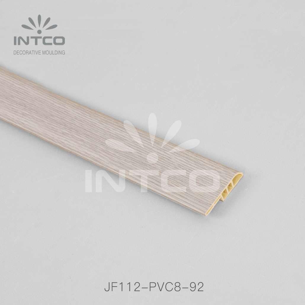 plastic skirting board light wood finish