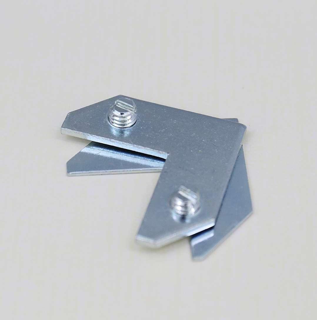 机器辅料 铝合金单孔角码