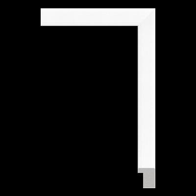 023-W1T white plastic art frame moulding