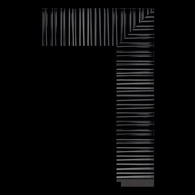 1862-YG-868 polystyrene picture frame moulding corner sample