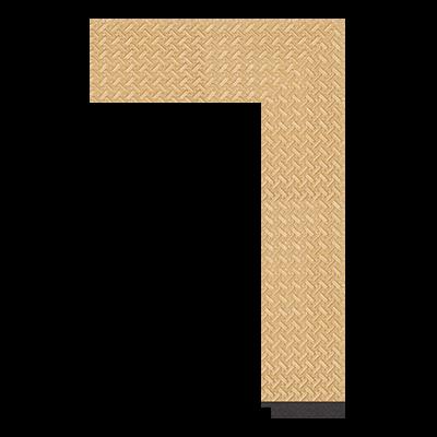 1862-YH-057 polystyrene picture frame moulding corner sample
