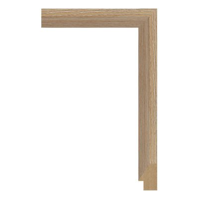 M0342-MW-H31 MDF picture frame moulding corner sample