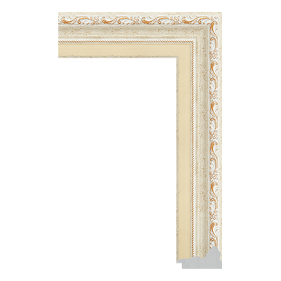 P6735-A-089 PS patina picture frame moulding