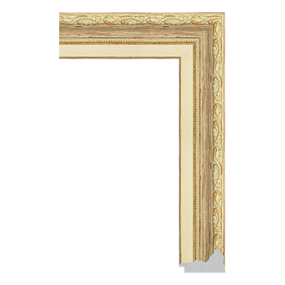 P6735-A-113 PS patina picture frame moulding