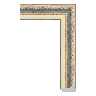 P6735-A-114 PS patina picture frame moulding