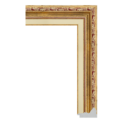 P6735-A-127 PS patina picture frame moulding
