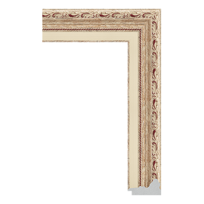 P6735-A-233 PS patina picture frame moulding