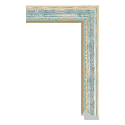 P6736-A-142 PS patina picture frame moulding