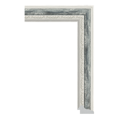 P6736-A-355 PS patina picture frame moulding