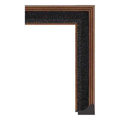 4682-C-545 unfinished black picture frame moulding