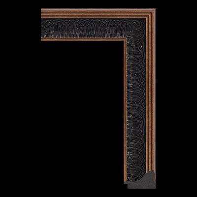 4682-C-545 unfinished black picture frame moulding