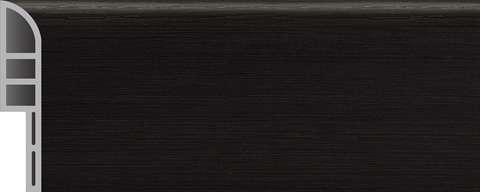 PVC skirting board JF112-PVC5-92 black