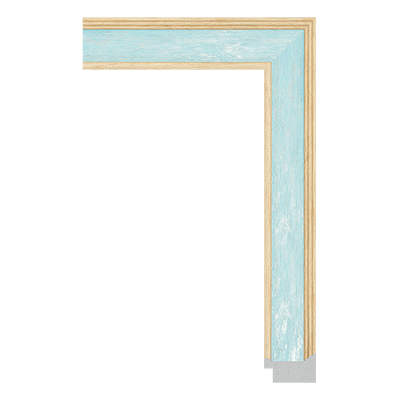 unfinished frame moulding with watercolor finish