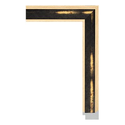 unfinished frame moulding with dark wood grain